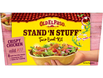 8 Crispy Chicken Mild Taco Boat Kit Sns