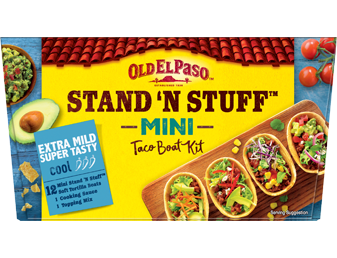 12 Extra Mild Super Tasty Cool Mini Taco Boat Kit Sns