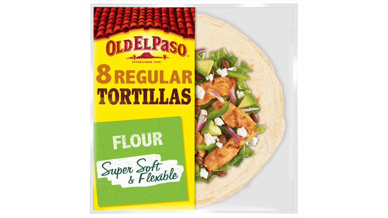 super soft flexible flour eight regular tortillas