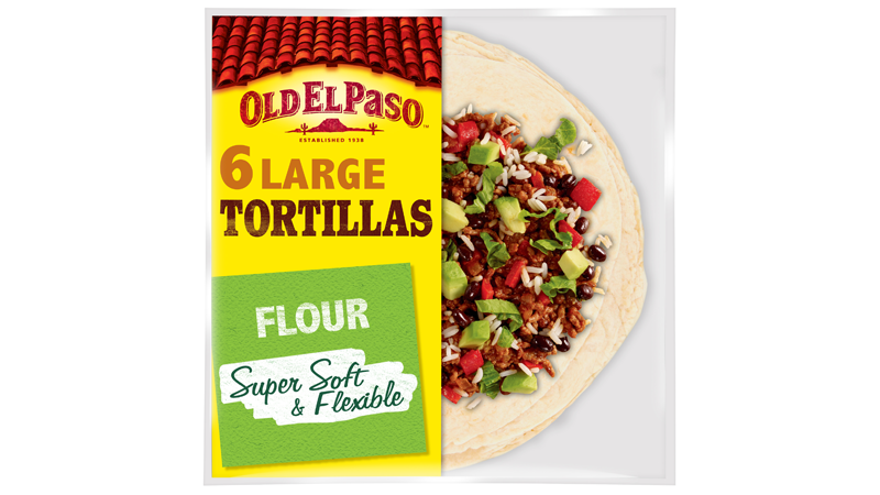 super soft flexible flour six large tortillas