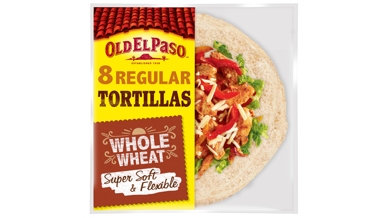 super soft flexible whole wheat eight regular tortillas