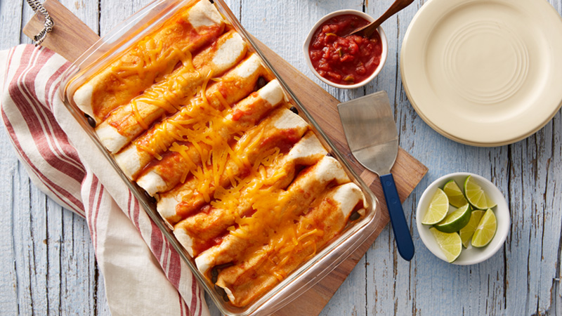 black-bean-and-cheese-enchiladas