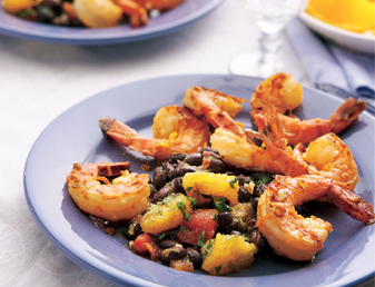 calypso-prawns-with-black-bean-citrus-salsa