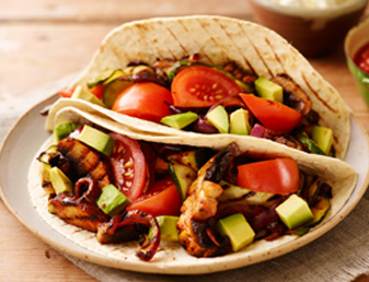 Char-Grilled Veggie Ten Minute Tacos