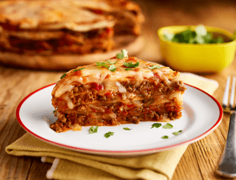 Cheesy Mexican Lasagne