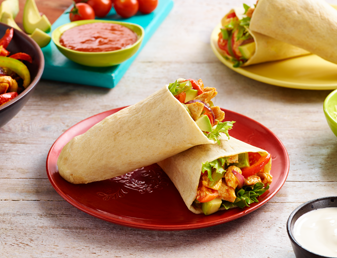 Chicken fajita tortilla pockets