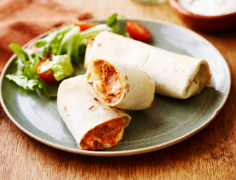 Classic Cheese And Bean Burritos
