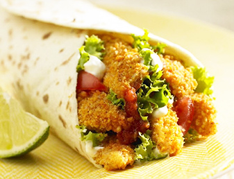 crispy chicken fajitas