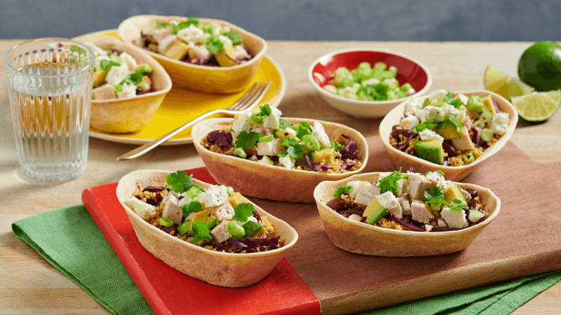 Chicken and Veggie Grain Bowl Boats