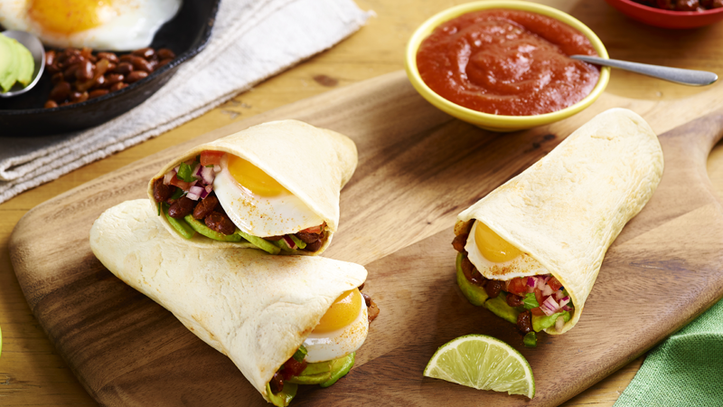 Huevos Rancheros Breakfast Burrito Pockets