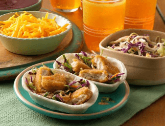 Mini Crispy Chicken Taco Boats