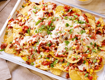 Cheese, Bean And Sweetcorn Nachos