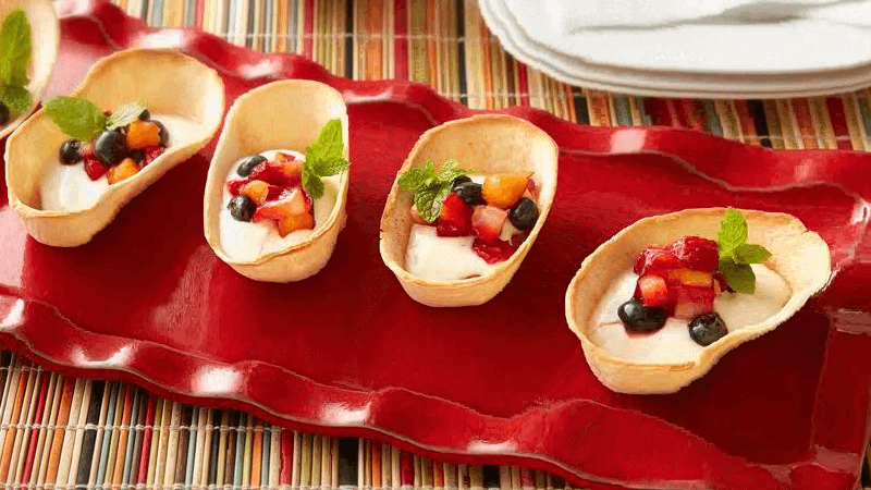 mini churro taco boats