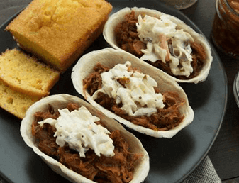 Mini Pulled Pork Taco Boats