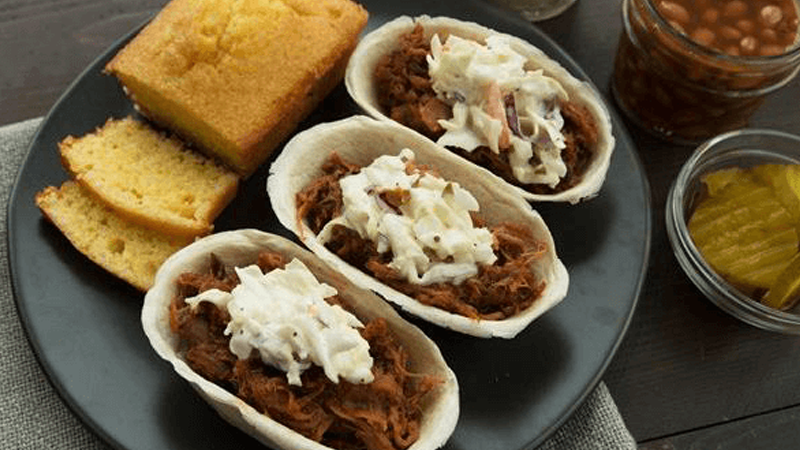 pulled pork mini taco boats