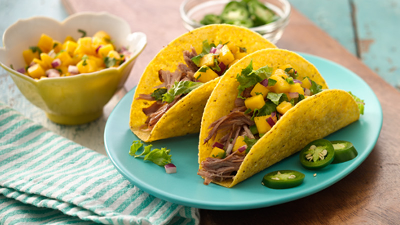 Pulled Pork Tacos with Mango Salsa