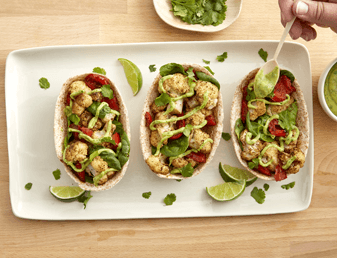 Roasted Cauliflower Whole Wheat Vegan Tacos