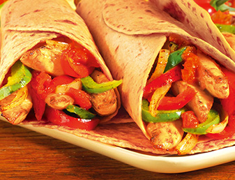 roasted tomato pepper fajitas