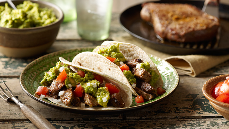 steak carne asada soft tacos